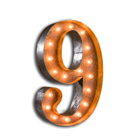 Letter,Light,Number,8,letter Lights industrial vintage letter lights circus