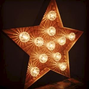 Star,Light,(Letter,Light),Letter Lights Large Metal Vintage  industrial starlight sign light
