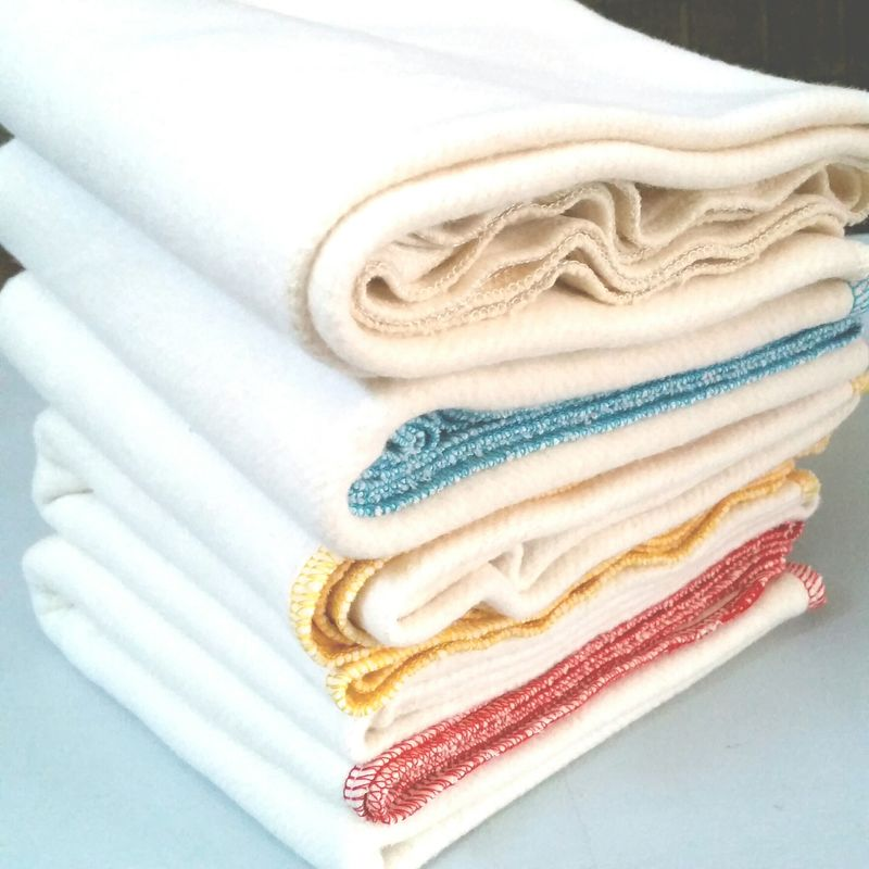 organic baby shower gift receiving blanket hemp/ organic cotton fleece. Red stitching.  - product images  of