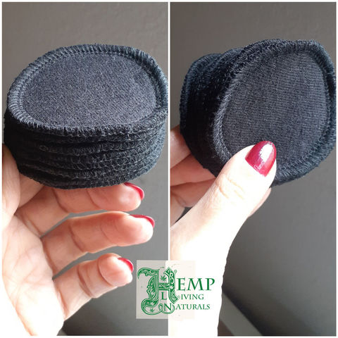 10,mini,hemp,makeup,removing,pads,-,reusable,cleansing,cotton,rounds,hemp organic cotton, reusable makeup remover pads, washable cotton rounds, facial cleansing pads, washable face pads, reusable, zero waste, made in california, made in usa