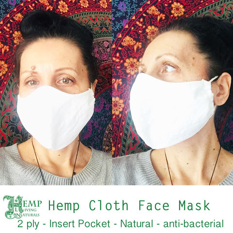 Face,Cloth,Mask,Natural,Hemp,-,2,ply,3,Adults/Kids,cloth mask, fabric mask, washable, reusable, mouth cover, hemp, organic, handmade, handcrafted, made in the usa, made in california