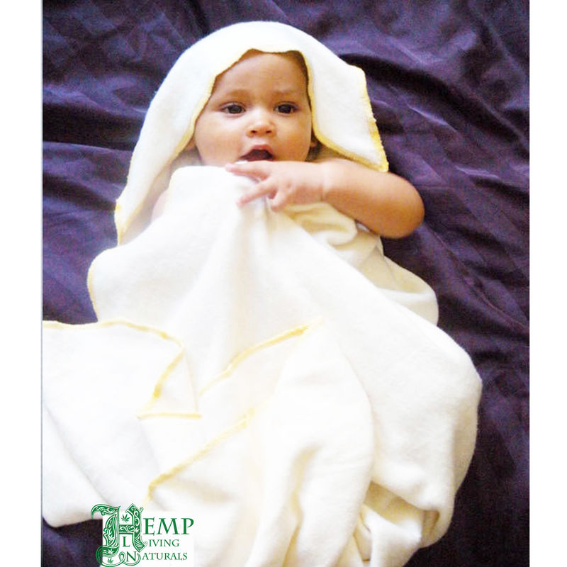 Hooded baby kids bath towel - natural - hemp  - product images  of