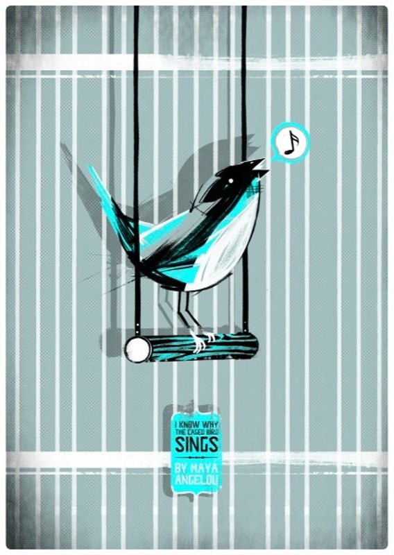 I Know Why The Caged Bird Sings (Book Cover by G McKinley) A2 Screen-Print - product images  of