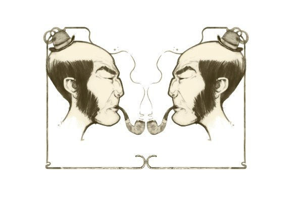 Sherlock Holmes Face Off (Illustration by Starvin Artist) A3 - product images