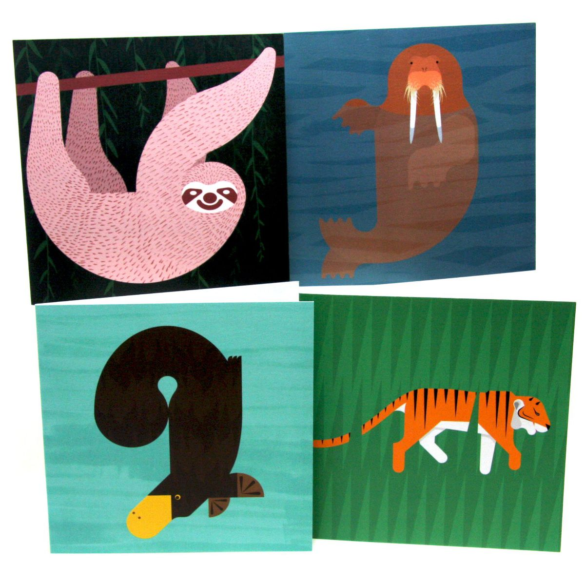 Animal Greeting Cards By Alan Dalby Four Pack Column Arts Agency