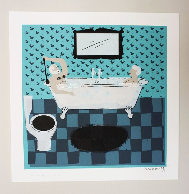 Hot Bath by Nicholas Saunders (5 Layer Screen Print) - product images  of