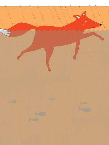 A,Foxes,Tail,5,by,Nicholas,Saunders,(5,Layer,Screen,Print),Nick, Nicholas, Saunders, Artist, Illustrator, Foxes, Tail, Allotment, Series, Screen, Print, Illustration, Art, Shop, Sale, Manchester, Column, Arts, Agency, Birmingham, London