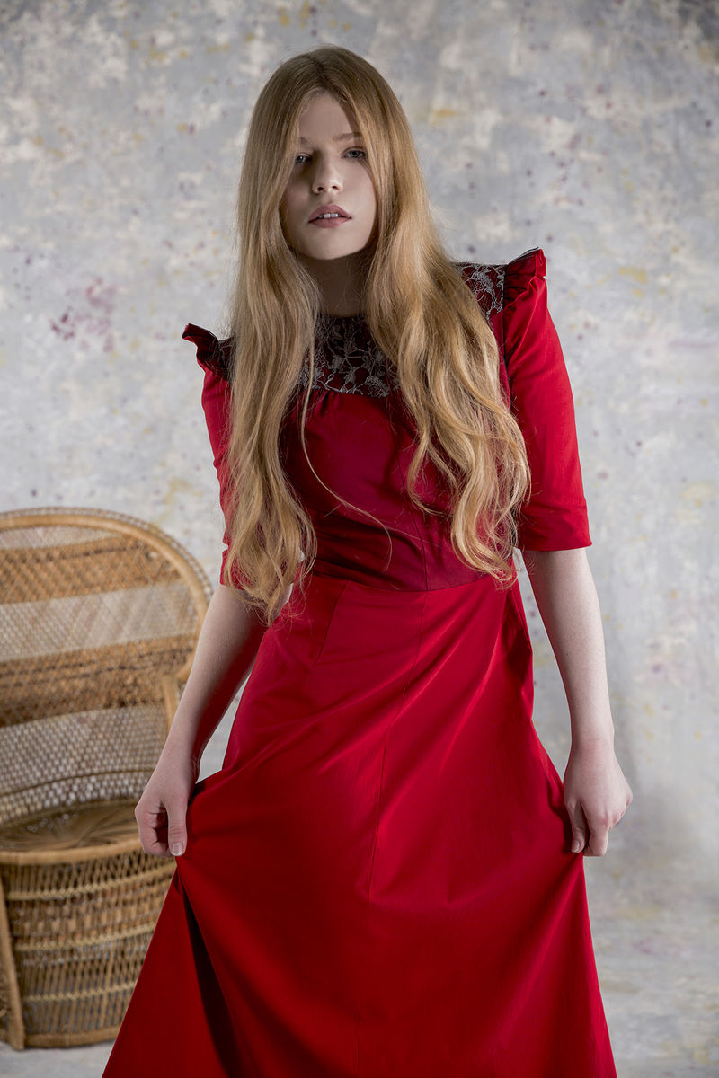 April lace red dress - product images  of