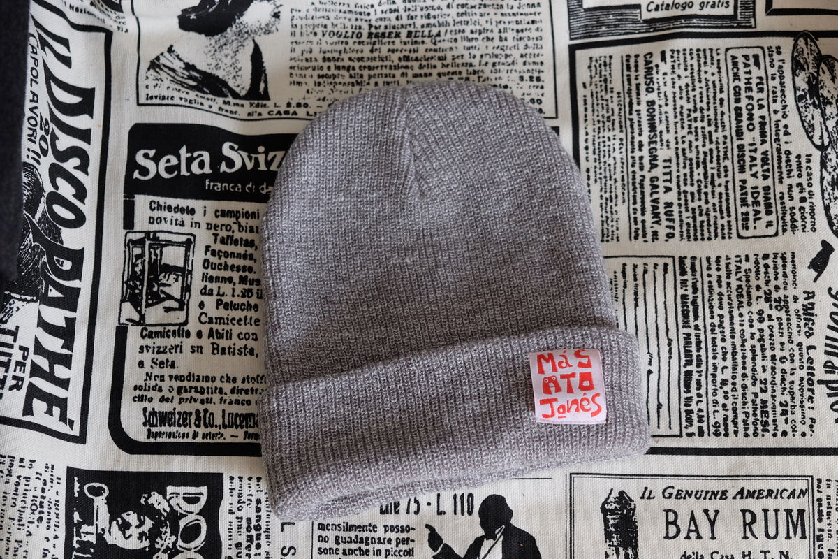 Heather Grey Acrylic Beanie - product images  of