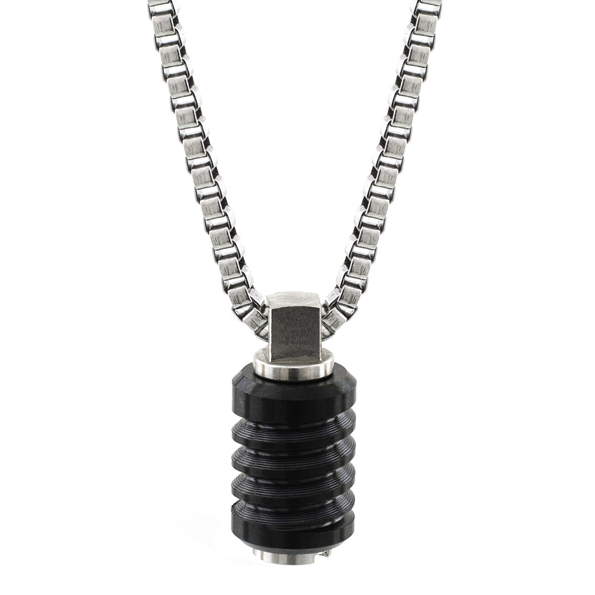 Black Polished Jet Stainless Steel Necklace Bailey of Sheffield - product image