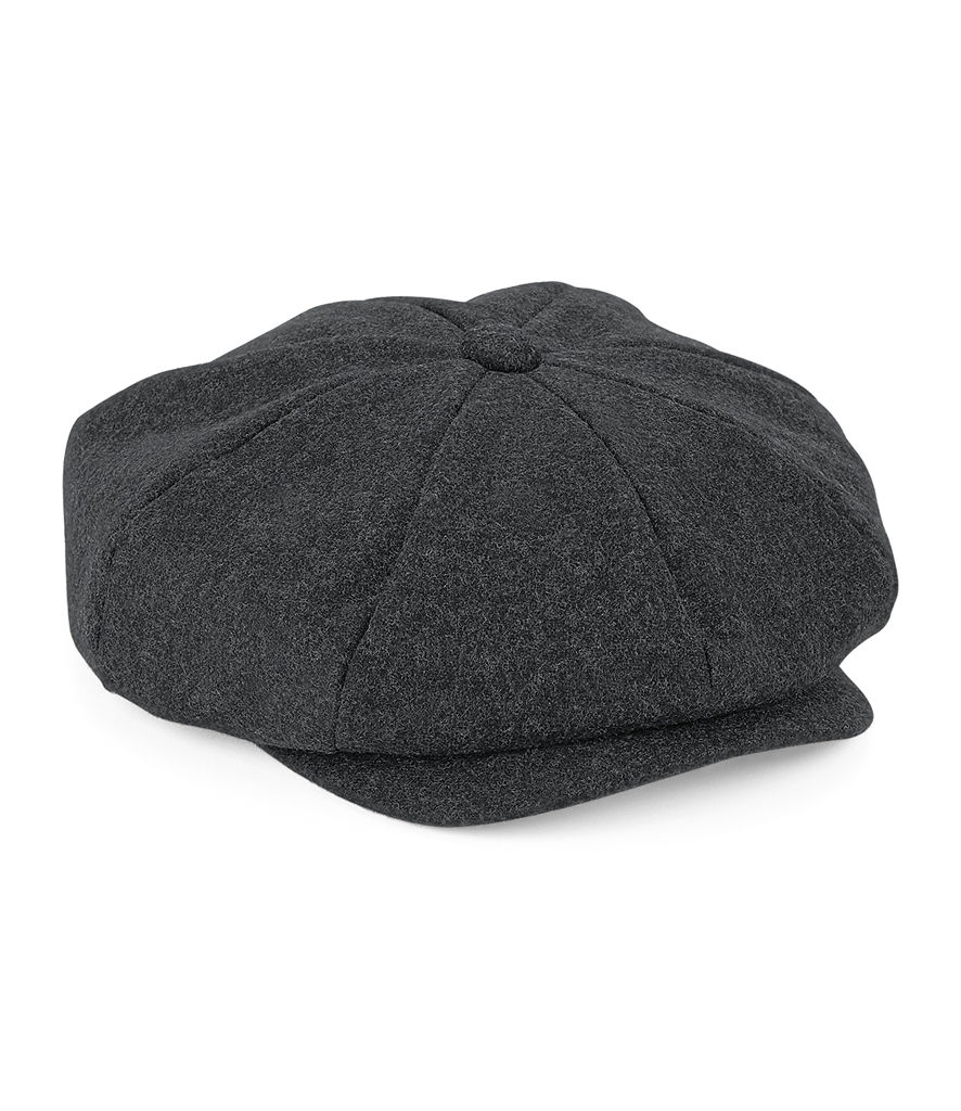 Charcoal Marl Baker Boy Cap as worn in Peaky Blinders - product images  of
