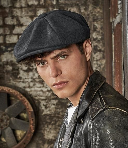 Charcoal Marl Baker Boy Cap as worn in Peaky Blinders - product image