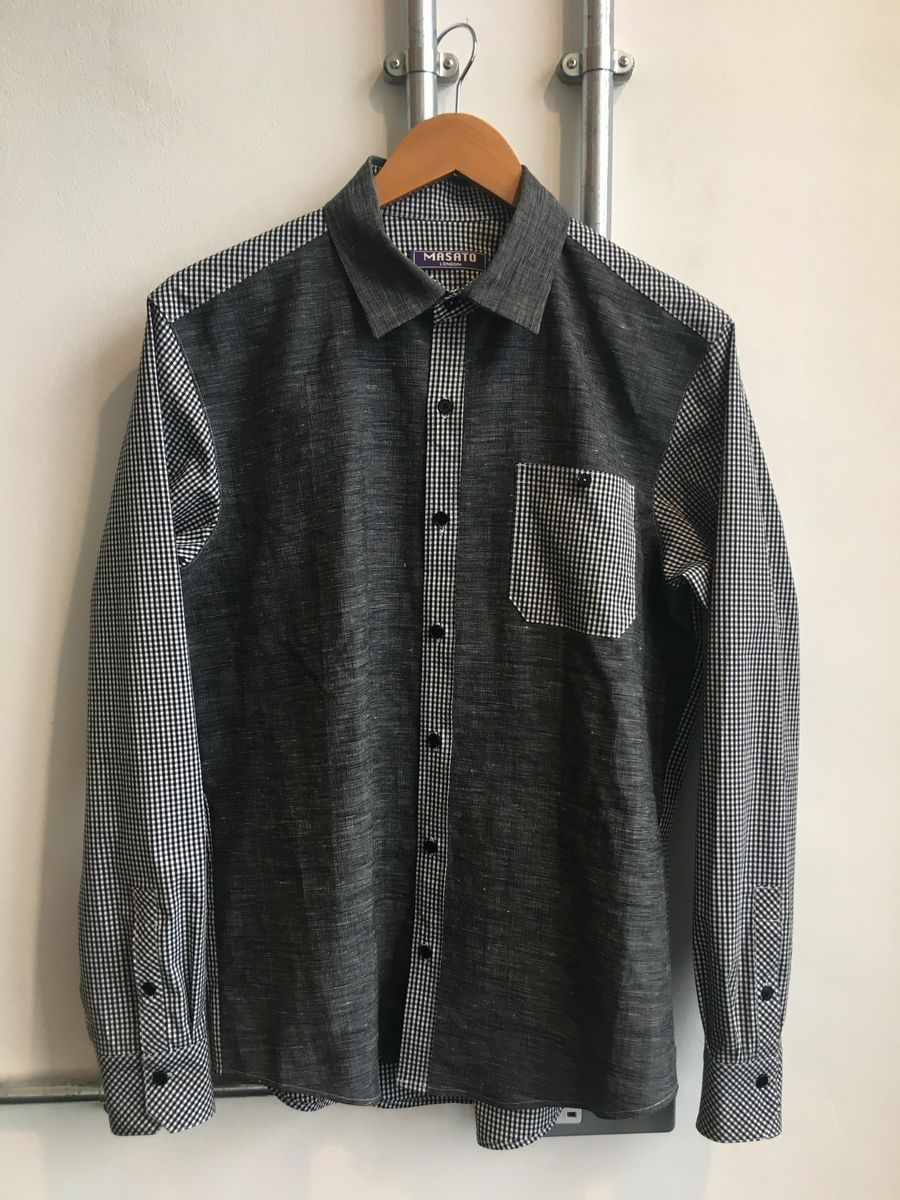 Gris Gingham contrast shirt - product images  of
