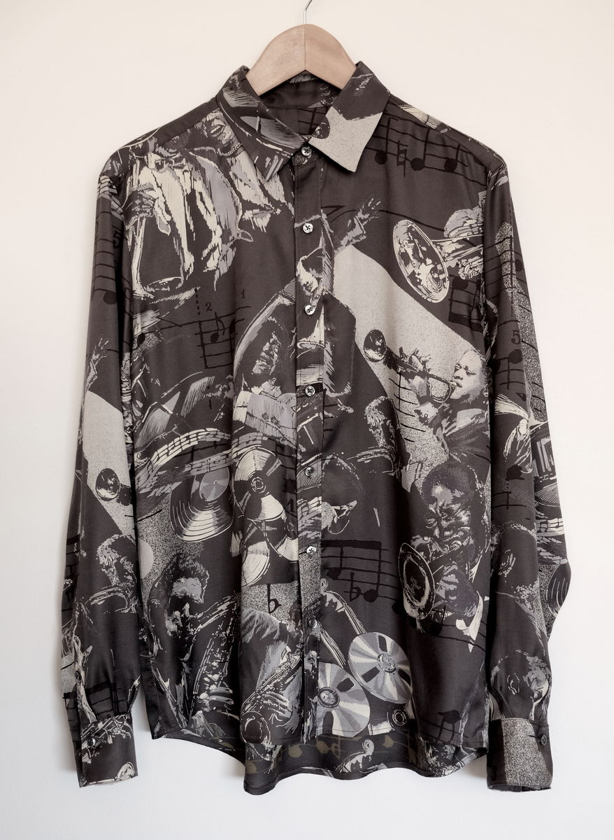 Jazz night silk shirt  - product image