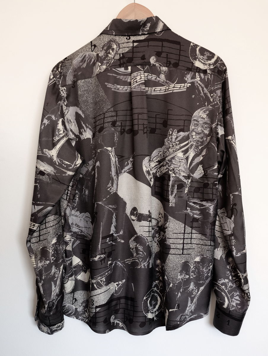 Jazz night silk shirt  - product images  of