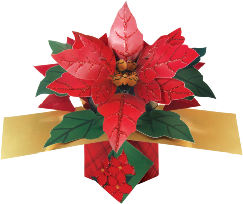 Second,Nature,Xmas,Petite,Pop,Ups,-,Poinsettia,Second Nature Pop Ups, Original Pop-ups, Pop up greeting card, Pop up, Pop-up, Pop-ups, Christmas Pop Up, Xmas Pop Up, Petite Pop Ups, Small pop ups, Poinsettia