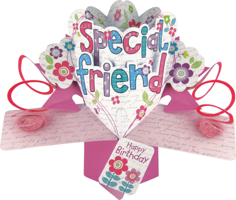 Second,Nature,Pop,Ups,-,Special,Friend,(Flowers),Second Nature Pop Ups, Original Pop-ups, Pop up greeting card, Pop up, Pop-up, Pop-ups, Special Friend, Flowers