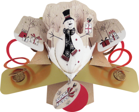 Second,Nature,Xmas,Pop,Ups,-,Snowman,Second Nature Pop Ups, Original Pop-ups, Pop up greeting card, Pop up, Pop-up, Pop-ups, Christmas Pop Up, Xmas Pop Up, Snowman