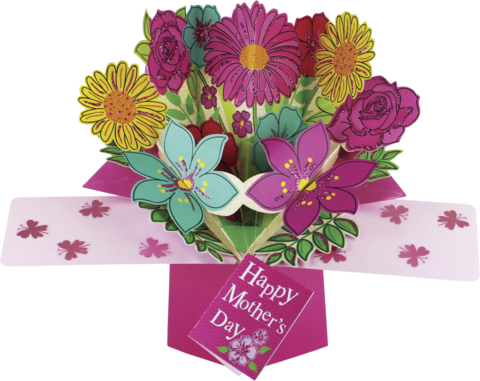 Second,Nature,Mother's,Day,Pop,Ups,-,Bouquet,Of,Flowers,Second Nature Pop Ups, Original Pop-ups, Pop up greeting card, Pop up, Pop-up, Pop-ups, Mother's day Pop Up, Mother day Pop Up, Bouquet of Flowers