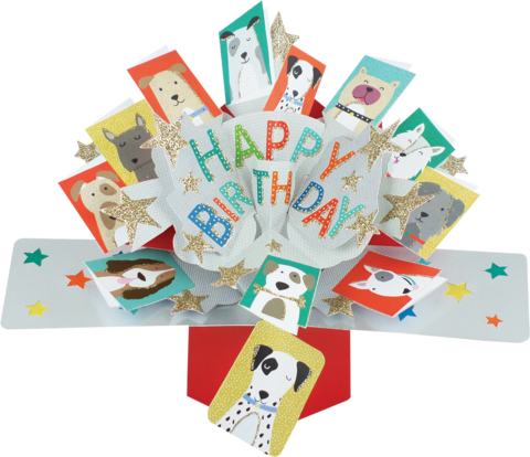 Second,Nature,Pop,Ups,-,Dogs,Second Nature Pop Ups, Original Pop-ups, Pop up greeting card, Pop up, Pop-up, Pop-ups, Birthday, Dogs, Stars, Animal