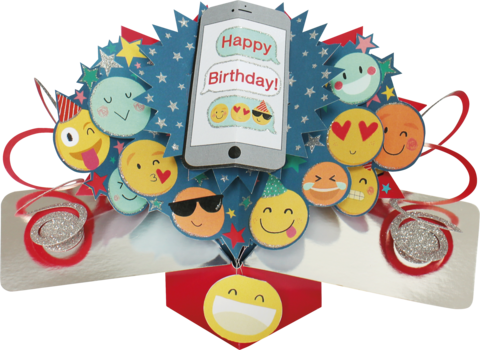 Second,Nature,Pop,Ups,-,Emoji,Second Nature Pop Ups, Original Pop-ups, Pop up greeting card, Pop up, Pop-up, Pop-ups, Birthday, Emoji