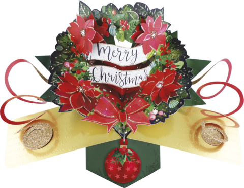 Second,Nature,Xmas,Pop,Ups,-,Wreath,Second Nature Pop Ups, Original Pop-ups, Pop up greeting card, Pop up, Pop-up, Pop-ups, Christmas Pop Up, Xmas Pop Up, Wreath
