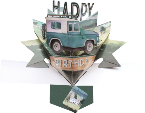 Second,Nature,Pop,Ups,-,Land,Rover,Second Nature Pop Ups, Original Pop-ups, Pop up greeting card, Pop up, Pop-up, Pop-ups, Birthday, Land Rover