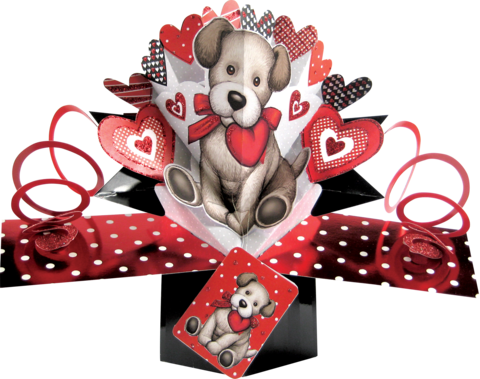 Second,Nature,Valentine's,Day,Pop,Ups,-,Puppy,Second Nature Pop Ups, Original Pop-ups, Pop up greeting card, Pop up, Pop-up, Pop-ups, valentine's day Pop Up, Valentine day Pop Up, Puppy