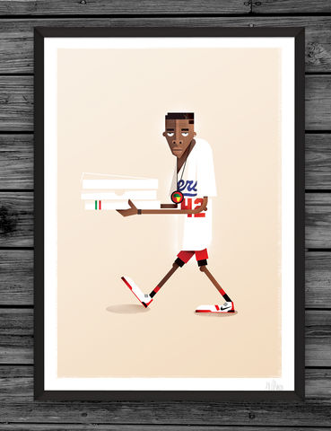 Mookie,illustration, giclee, dale, edwin, murray, print, buy, limited, edition, art, illustrator, graphic artist, spike lee, digital, wall art, do the right thing