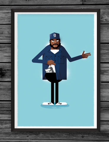 Doughboy,illustration, giclee, dale, edwin, murray, print, buy, limited, edition, art, illustrator, graphic artist, ice cube, digital, wall art, doughboy, boyz in the hood