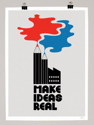 Make,Ideas,Real,dale, edwin, murray, print, buy, make ideas real, limited, edition, art, illustrator, graphic artist