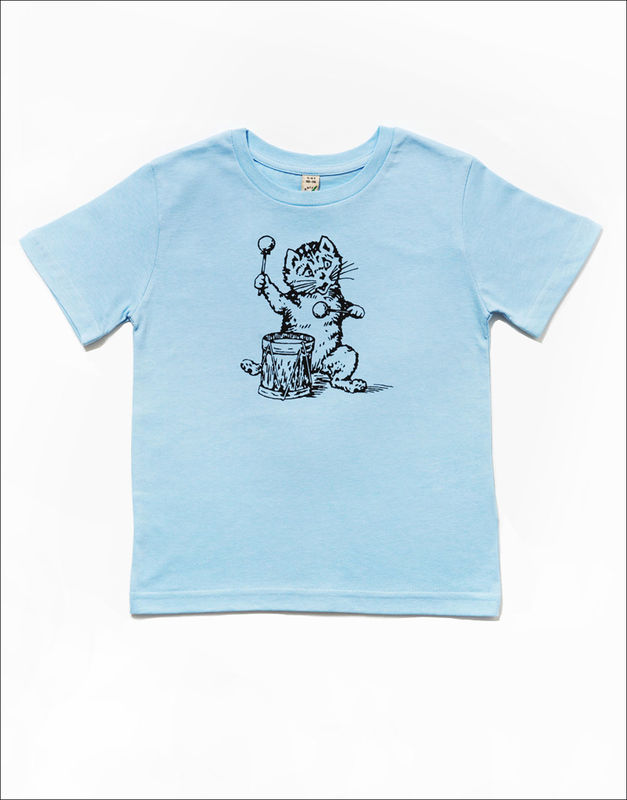 The Postcard Cat Junior Tee (light blue) - product images