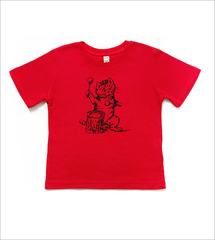 The,Postcard,Cat,Junior,Tee,(red),Postcard Cat, Kids T-shirts, Postcard Records