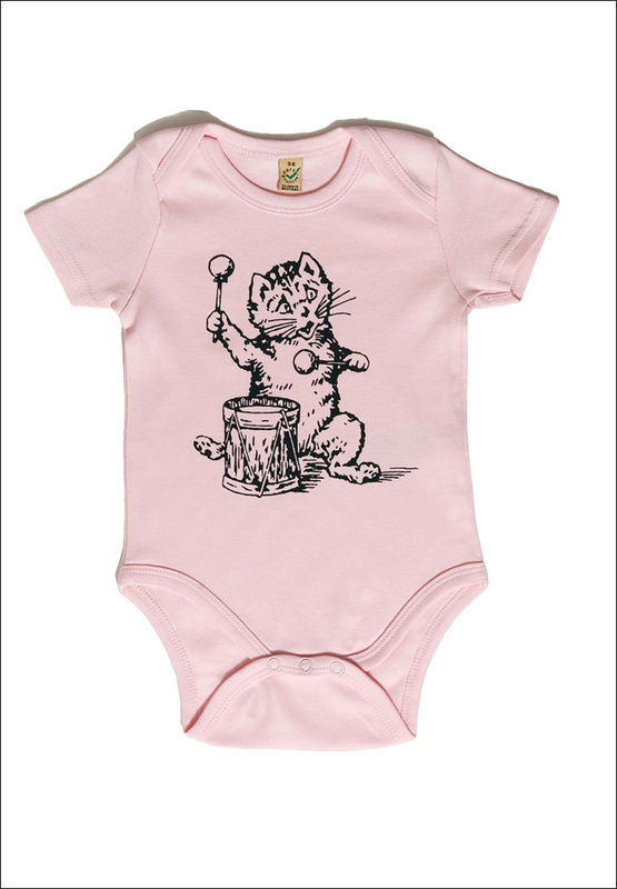 The Postcard Cat Babygrow (powder pink) - product images