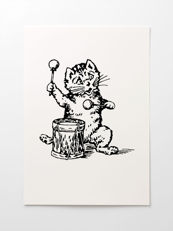 The Postcard Cat Giclée Print: A3 - product image