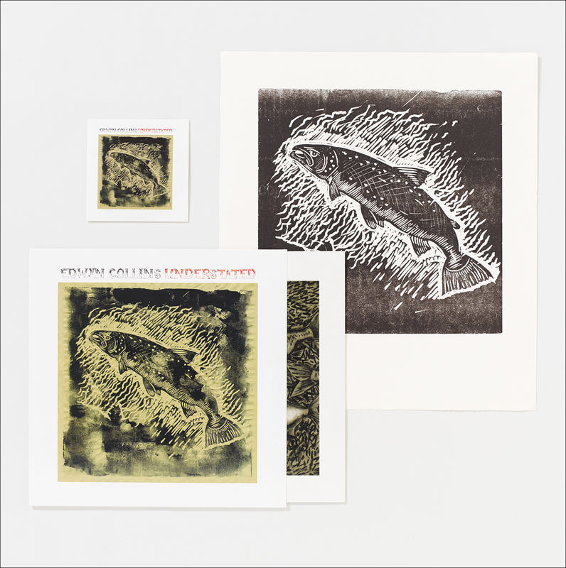 Understated LP and Salmon Letterpress Print - product image
