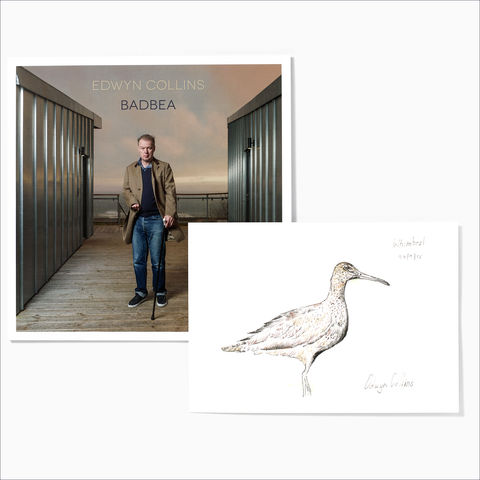 Edwyn,Collins:,Badbea,LP,+,Whimbrel,Giclée,(with,A4,Lyrics,Letterpress,Print),Edwyn Collins: Badbea