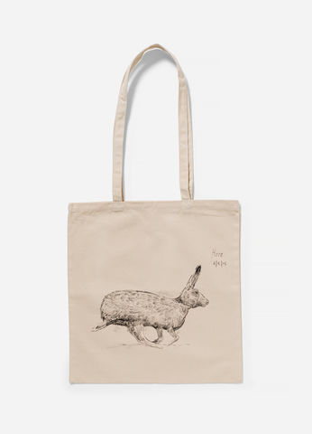 The,Hare,-,Tote,Bag,Edwyn Collins, Hare Drawing, Tote Bag
