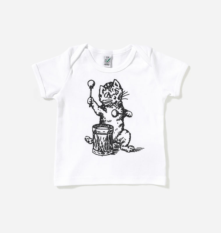 The Postcard Cat White Baby Lap T-Shirt - product images
