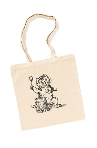The,Postcard,Cat,Tote,Bag,Postcard Cat Tote Bag, Postcard Records, Edywn Collins