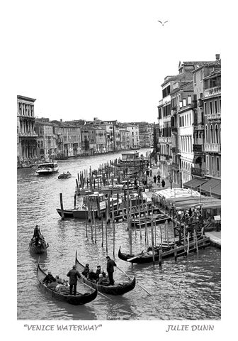 Venice,Waterway,Venice Italy; black and white photography; photos; gondola; water; boats
