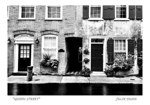 Queen,Street,black and white photography, black and white photos, charleston, architecture