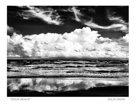 Julie,Beach,black and white photography, black and white photos, charleston, beach, ocean, sky