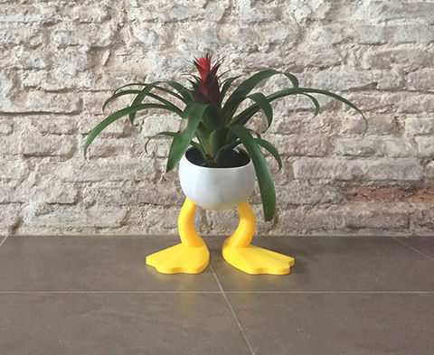 Plant,Pot,Donald,Planter pot, maceta, donald, macetero, pop, PLA, pinted 3d, 3d, impresion 3d,