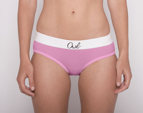 COLORFUL,-2ND-,ROSE,underwear, woman, ecologic, Sustainable, Organic , Undyed,  Cotton , Owl underwear, ropa interior, mujer, organico, ecologico, organica, ecologica, Rosa, Pink, ROSE