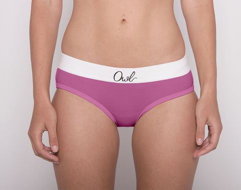 COLORFUL,-2ND-,PEGGY,underwear, woman, ecologic, Sustainable, Organic , Undyed,  Cotton , Owl underwear, ropa interior, mujer, organico, ecologico, organica, ecologica, Rosa, Pink, Peggy, Piggy