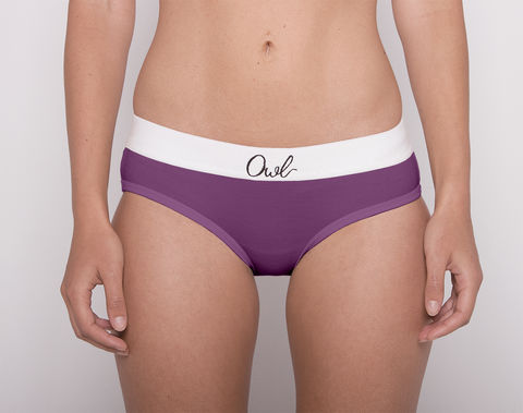 COLORFUL,-2ND-,PURPLE,underwear, woman, ecologic, Sustainable, Organic , Undyed,  Cotton , Owl underwear, ropa interior, mujer, organico, ecologico, organica, ecologica, Morado, Purple