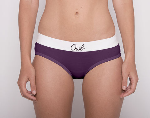 COLORFUL,-2ND-,GRAPE,underwear, woman, ecologic, Sustainable, Organic , Undyed,  Cotton , Owl underwear, ropa interior, mujer, organico, ecologico, organica, ecologica, Morado, uva, Purple, grape