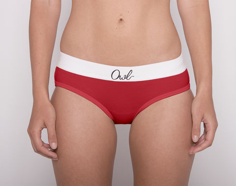 COLORFUL,-2ND-,RED,underwear, woman, ecologic, Sustainable, Organic , Undyed,  Cotton , Owl underwear, ropa interior, mujer, organico, ecologico, organica, ecologica, Morado, red, rojo
