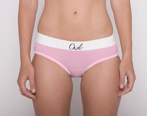 COLORFUL,-2ND-,BLOSSOM,underwear, woman, ecologic, Sustainable, Organic , Undyed,  Cotton , Owl underwear, ropa interior, mujer, organico, ecologico, organica, ecologica, Rosa, Pink, Blossom